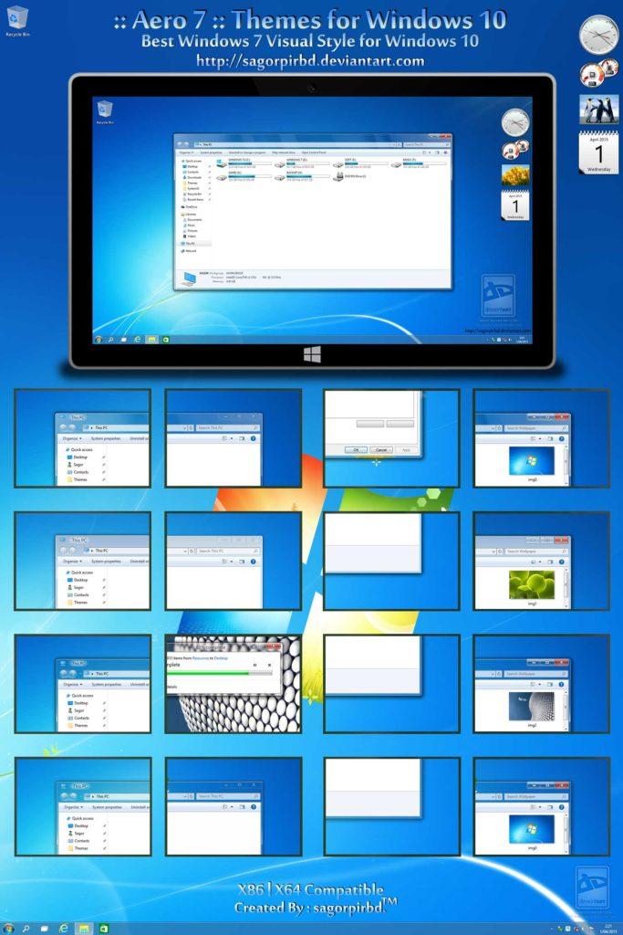 Тема, windows 10 для, windows 7 скачать бесплатно программы для