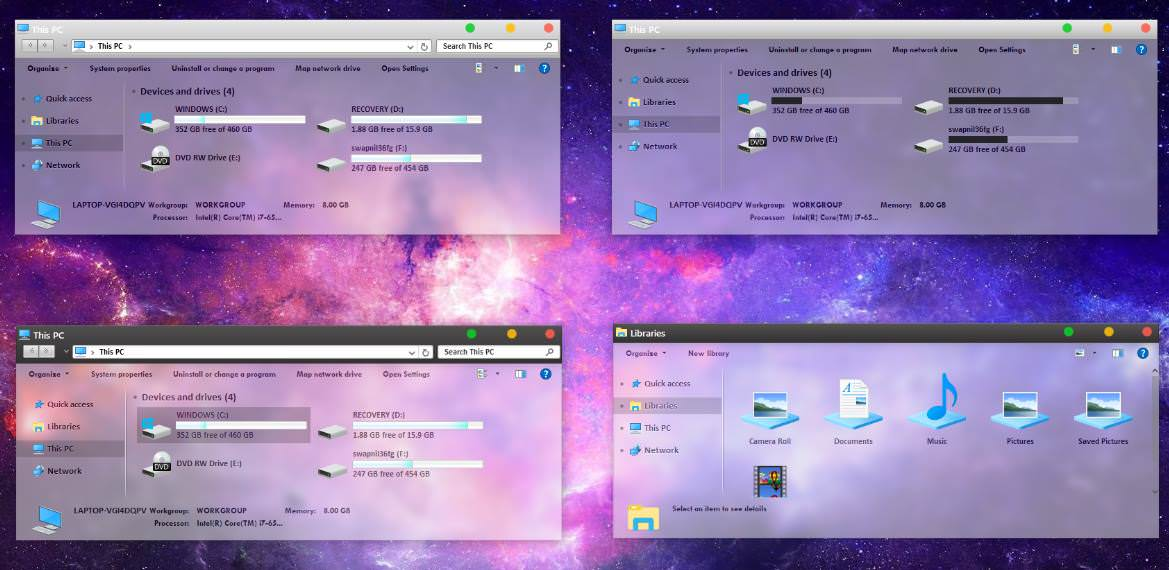 Темы, windows 7 для, windows 10 »