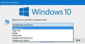 windows 10 выключение