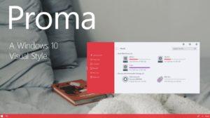 пример темы Proma Windows 10