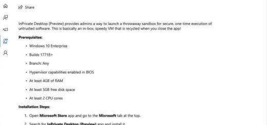Windows 10 Enterprise обзаведется собственной песочницей