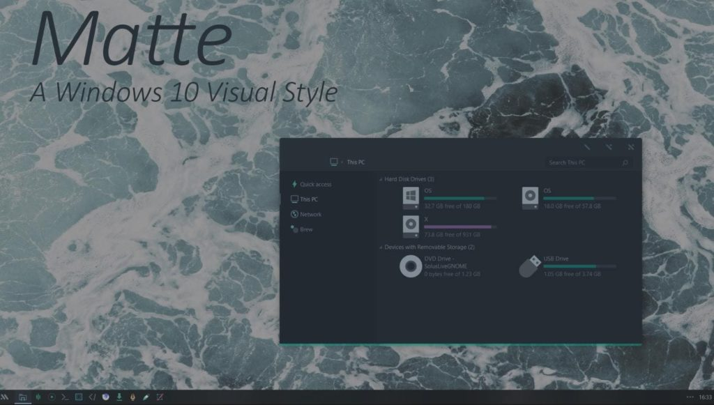 matte windows 10