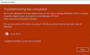 слет активации windows 10
