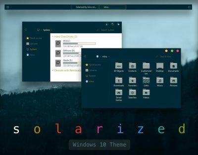 Solarized Windows 10