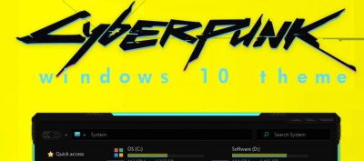 cyberpunk windows 10 theme