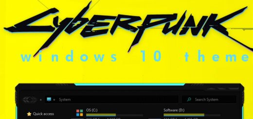 cyberpunk windows 10 theme